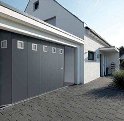Porte de garage sectionnelle lat rale hst 42 afc fermetures - Prix porte de garage laterale motorisee ...