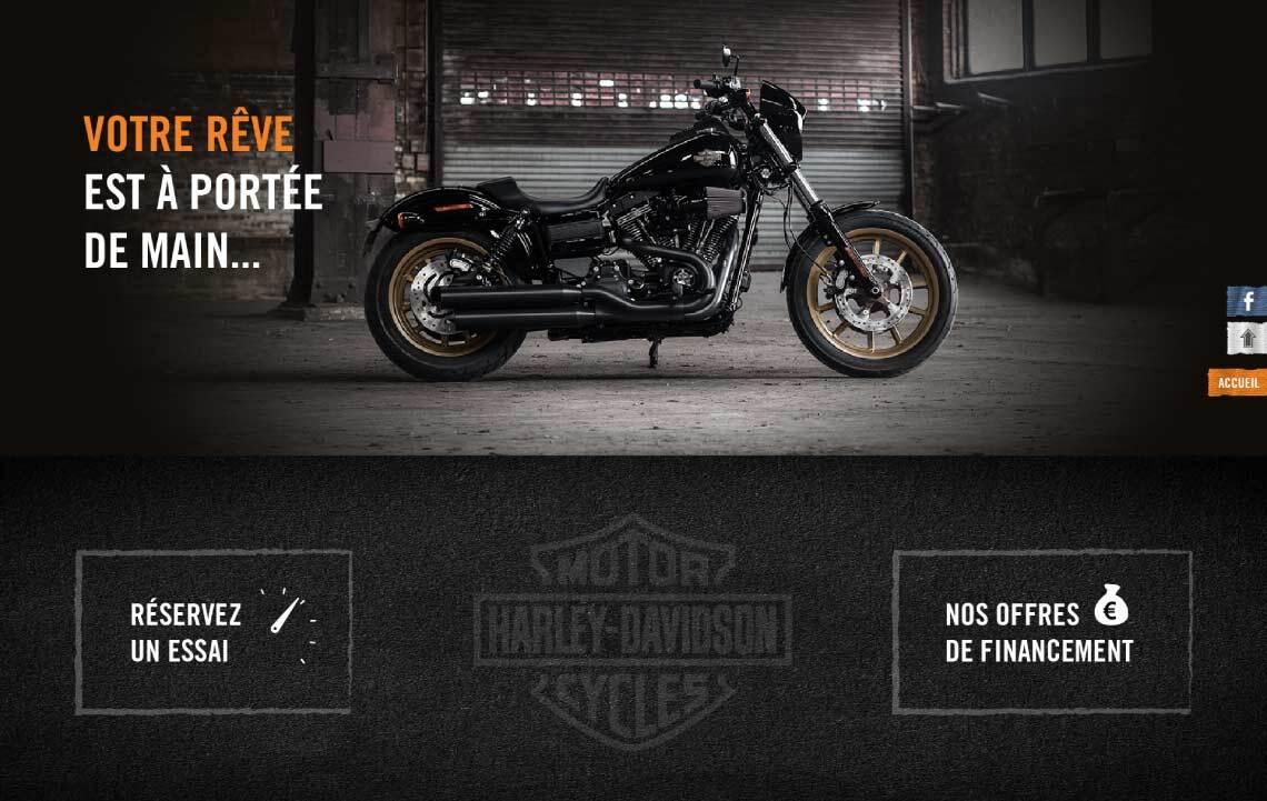 Webdesign Harley Davidson